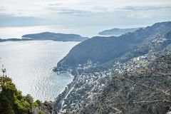 Riviera coast view from the top of the rock Stock Photography