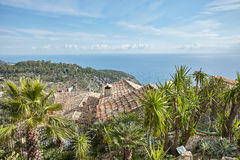 Riviera coast view from the top of the village Eze Stock Photos
