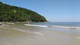 Riviera de São Lourenço -SP - Brazil. Calm and clear water, excellent for children stock photos