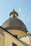 Riviera di Chiaia. Mosaic church dome on the Riviera di Chiaia in Naples Stock Photo