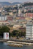 Riviera di Chiaia and the Posillipo Hill in Naples, Italy Stock Photo