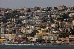 Riviera di Chiaia and the Posillipo Hill in Naples, Italy Royalty Free Stock Photo