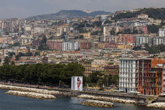 Riviera di Chiaia and the Posillipo Hill in Naples, Italy Royalty Free Stock Photography