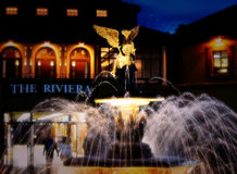 The Riviera Fountain and Angel Stock Images