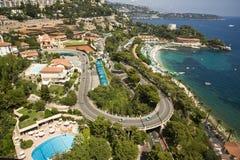 Riviera francês por Monaco Fotografia de Stock Royalty Free