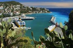 Riviera harbor stock photos