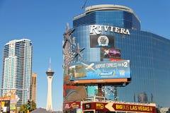 Riviera hotell och kasino i Las Vegas fotografering för bildbyråer