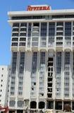 Riviera hotell- och kasinotecken Arkivbild
