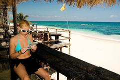 Riviera Maya Beach Stock Photo