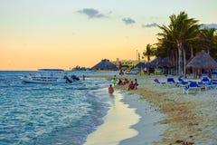 Riviera Maya Beach Scene royalty free stock photo