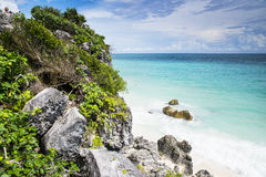 Riviera maya. The beautiful sea in front of the mexican coast royalty free stock photography