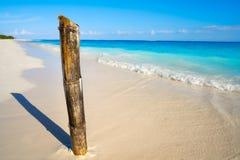 Riviera Maya Caribbean beach turquoise Mexico. Riviera Maya Caribbean beach turquoise cane in Mayan Mexico stock photo