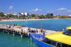 Port in Playa del Carmen, Mexico. Riviera Maya and Playa del Carmen port, Mexico Stock Photography