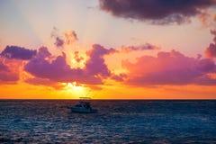Riviera Maya sunrise beach in Mexico. Riviera Maya sunrise beach at Mayan Mexico royalty free stock photo