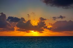 Riviera Maya sunrise beach in Mexico. Riviera Maya sunrise beach at Mayan Mexico stock photo
