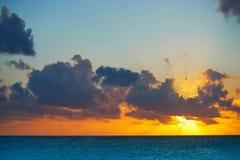 Riviera Maya sunrise beach in Mexico. Riviera Maya sunrise beach at Mayan Mexico stock image