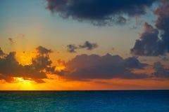 Riviera Maya sunrise beach in Mexico Stock Images