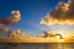 Riviera Maya sunrise beach in Mexico. Riviera Maya sunrise beach in Mayan Mexico stock images