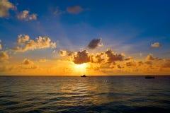 Riviera Maya sunrise beach in Mexico. Riviera Maya sunrise beach in Mayan Mexico royalty free stock image