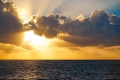 Riviera Maya sunrise beach in Mexico Stock Image