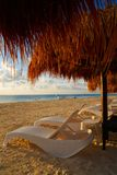 Riviera Maya sunrise beach in Mexico royalty free stock photo