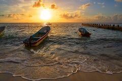 Riviera Maya sunrise in Caribbean Mexico Stock Photography