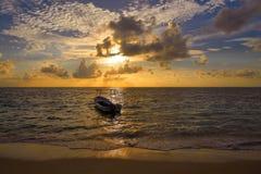 Riviera Maya sunrise in Caribbean Mexico Stock Photo
