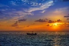 Riviera Maya sunrise in Caribbean Mexico Royalty Free Stock Photos