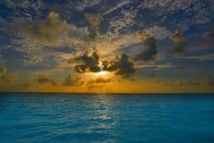 Riviera Maya sunrise in Caribbean Mexico Royalty Free Stock Photo