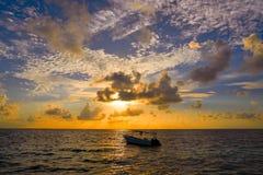 Riviera Maya sunrise in Caribbean Mexico Royalty Free Stock Image
