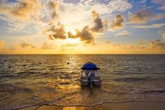 Riviera Maya sunrise in Caribbean Mexico Stock Image