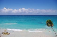 Riviera Maya. The Riviera Maya is a tourism and resort district in Mexico. It straddles the coastal Highway 307, along the Caribbean coastline of the state of Royalty Free Stock Photo