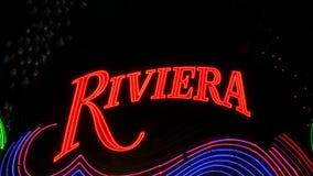 Riviera Neon Signs in Las Vegas.  - Clip 11 of  20 stock video footage
