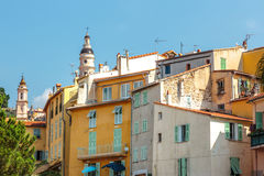 Riviera town Menton view Royalty Free Stock Photo