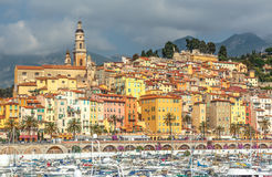 Riviera town Menton view Royalty Free Stock Photography