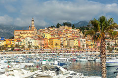 Riviera town Menton view Royalty Free Stock Image