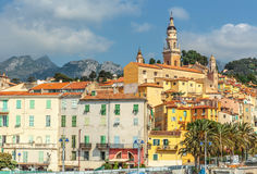 Riviera town Menton view Royalty Free Stock Images