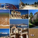 Riviera turca - collage del turismo fotografía de archivo libre de regalías