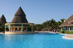 Rivieramaya van Mexico de iberostar pool van paraisolindo Stock Foto's