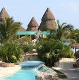 Rivieramaya van Mexico de iberostar pool van paraisolindo Stock Afbeelding