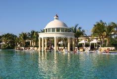Rivieramaya van Mexico iberostar grote paraisopool Stock Foto's