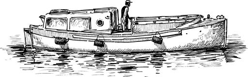 Rivierboot Royalty-vrije Stock Foto's