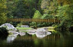 Rivierbrug Royalty-vrije Stock Afbeeldingen