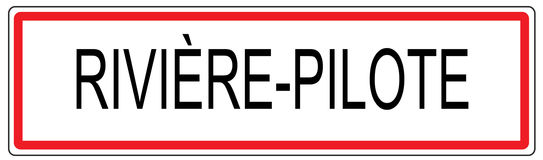 Riviere Pilote city traffic sign illustration in France Stock Photo