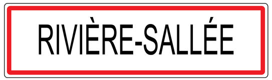 Riviere Sallee city traffic sign illustration in France Royalty Free Stock Photo