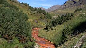 Riviere unhola, val d`aran, spain royalty free stock photos