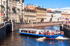 Rivieren en kanalen van St. Petersburg Rusland Royalty-vrije Stock Foto's