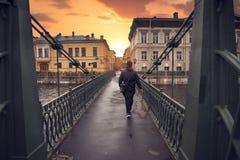 rivieren en straten van St. Petersburg stock afbeeldingen