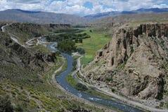 Rivieren in Tibet Stock Afbeelding