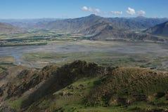 Rivieren in Tibet stock fotografie